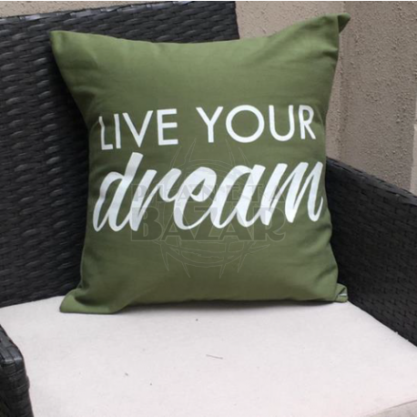 Almohadon Gabardina Live Your Dream 50x30 cm