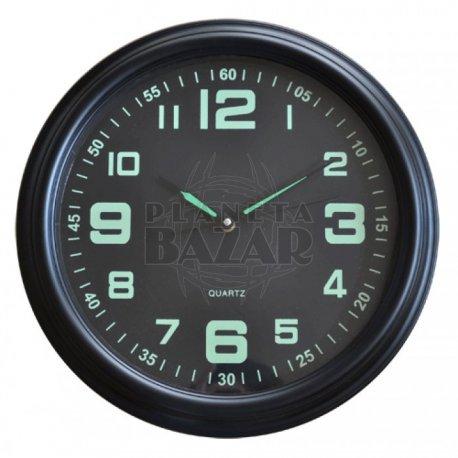 Reloj Pared Negro Y Verde