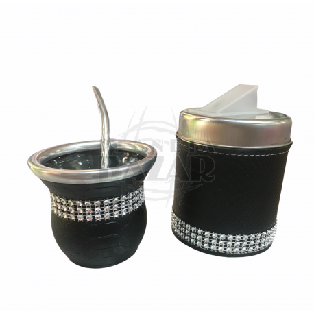 Set Mate Strass Con Lata | Negro