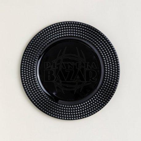 Plato De Sitio Negro 33 Cm