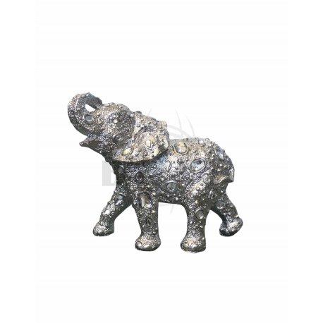 Elefante De Metal Plata 19 cm