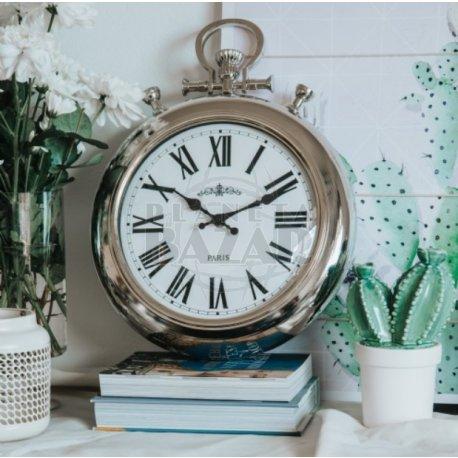 Reloj de Pared Retro Plateado