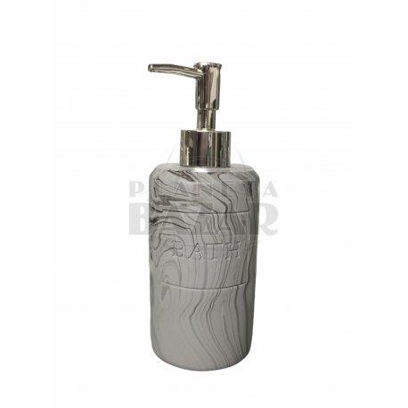 Dispenser Jabon Liquido Gris Marmolado