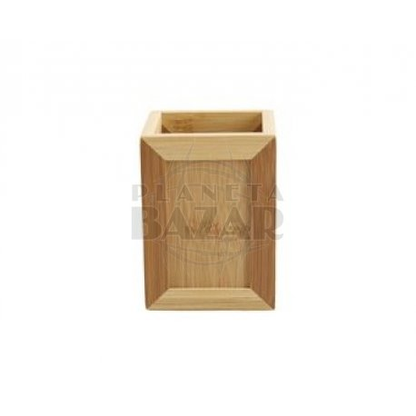 Vaso Cuadrado de Bambú
