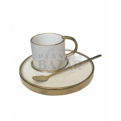 Set Mug Plato y Cucharita   Crudo