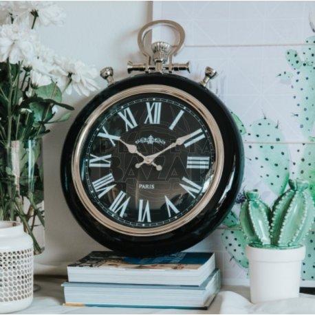 Reloj De Pared Retro Negro
