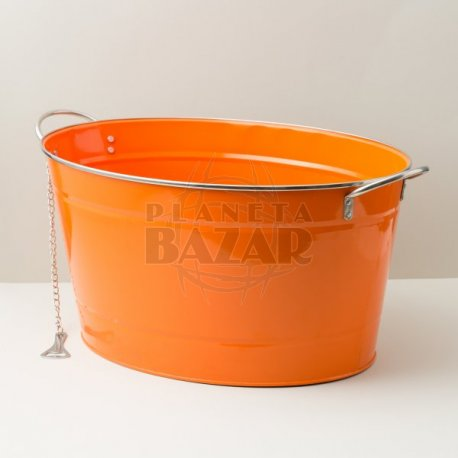 Champanera Oval Con Destapador | Naranja