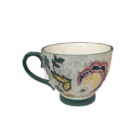 Jarro Mug De Porcelana 400 ml   Verde