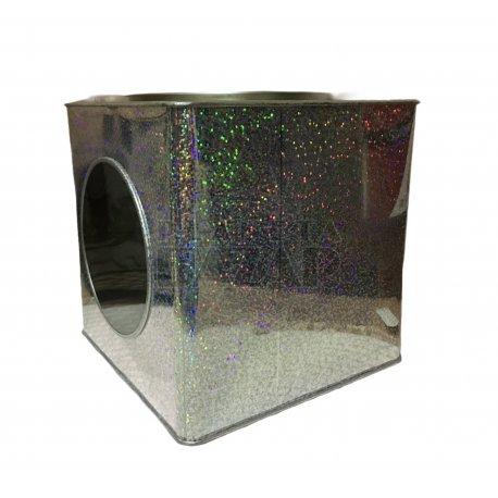 Lata Galletitas Con Visor Cuadrada | Holográfica