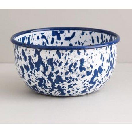Bowl Enlozado Salpicado Azul