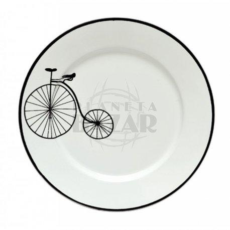 Plato Postre  Enlozado Bici