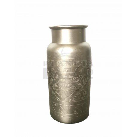 Florero Aluminio Plata