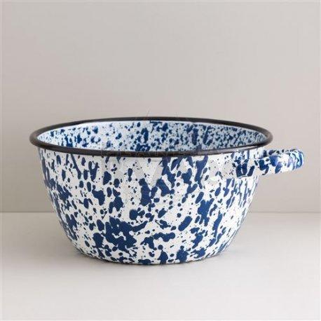 Bowl Enlozado Salpicado Azul C/Asa