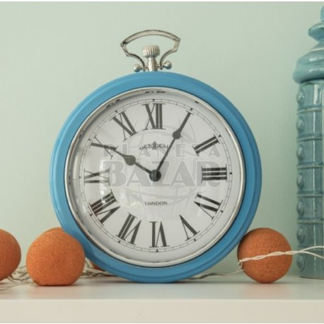Reloj De Pared Retro Celeste