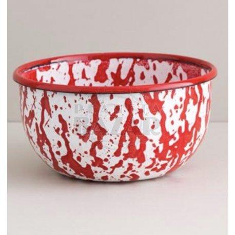 Bowl Enlozado Salpicado Rojo 12 cm