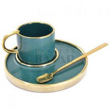 Set Mug Plato y Cucharita   Verde