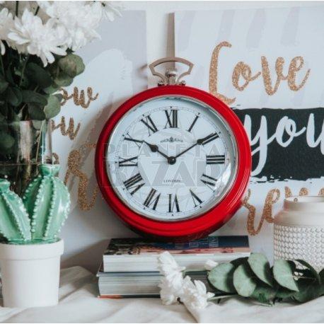 Reloj de Pared Rojo Retro