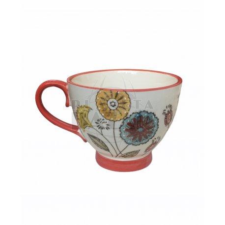 Jarro Mug De Porcelana 400 ml   Rojo