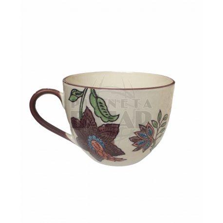 Jarro Mug De Porcelana 400 ml   Marron