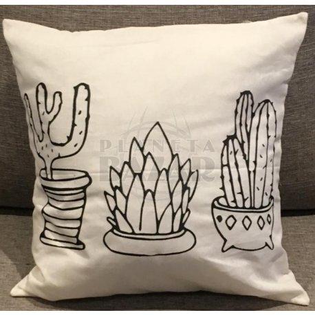 Almohadón Lienzo Cactus