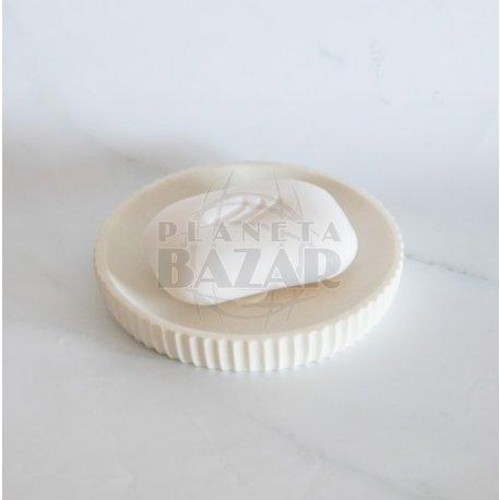 Jabonera Ceramica Simil Pieda Blanca